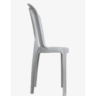 Cadeira de Plástico Bistrô Classe B Branca - Rei do Plástico - Foto 2