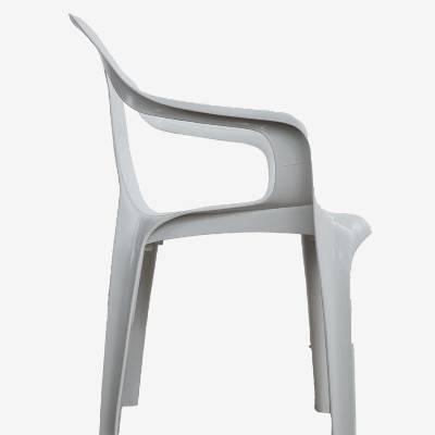 Poltrona de Plástico Spazio Classe B Branca - Rei do Plástico - Foto 1