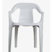 Detalhes do produto Poltrona de Plástico Spazio Classe B Branca - Rei do Plástico