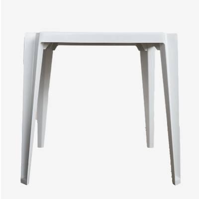 Mesa de Plástico Quadrada Empilhável Branca - Rei do Plástico - Foto 1