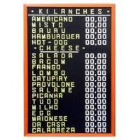 Detalhes do produto Placa de Preços com letras removíveis 45x85 - Dalp