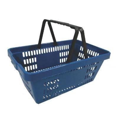 Detalhes do produto Cesto De Compras Plástico - Azul - Amapa