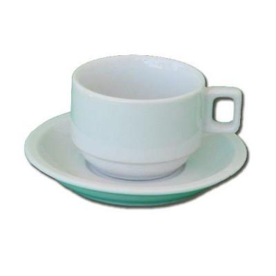 Detalhes do produto Xícara de Chá com pires 160 ml - 6 unidades - Alfa Porcelanas