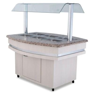 Detalhes do produto Buffet Refrigerado para Salada Luxo - p/ 8 cubas - Frilux