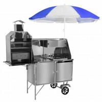 Detalhes do produto Carrinho 3 em 1 - Churrasco + Hot Dog + Lanche - Cefaz - LC 12 P/GS