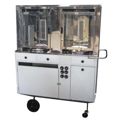 Detalhes do produto Carrinho de churrasco grego 2 espetos automáticos - Alsa