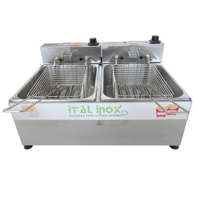 Fritadeira 2 cubas Elétrica 10 litros   - Ital Inox - Foto 2