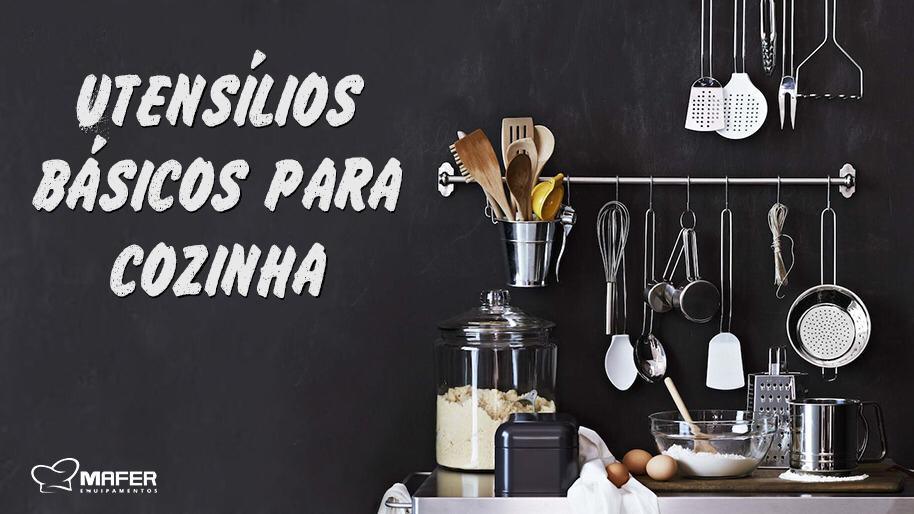 Utensílios básicos para cozinha