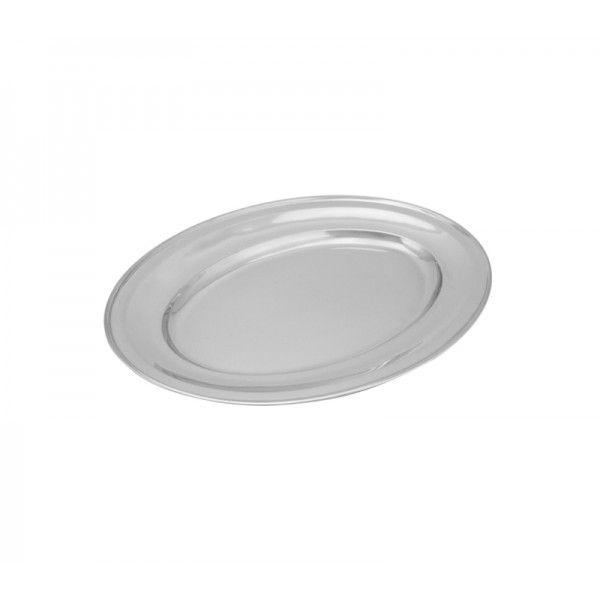 Travessa Inox Oval Rasa 25 cm - Lume Inox