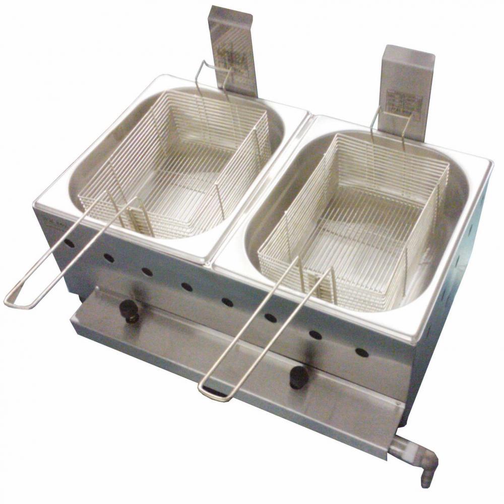 Fritadeira a gás Ital Inox - 10 litros - 2 cubas