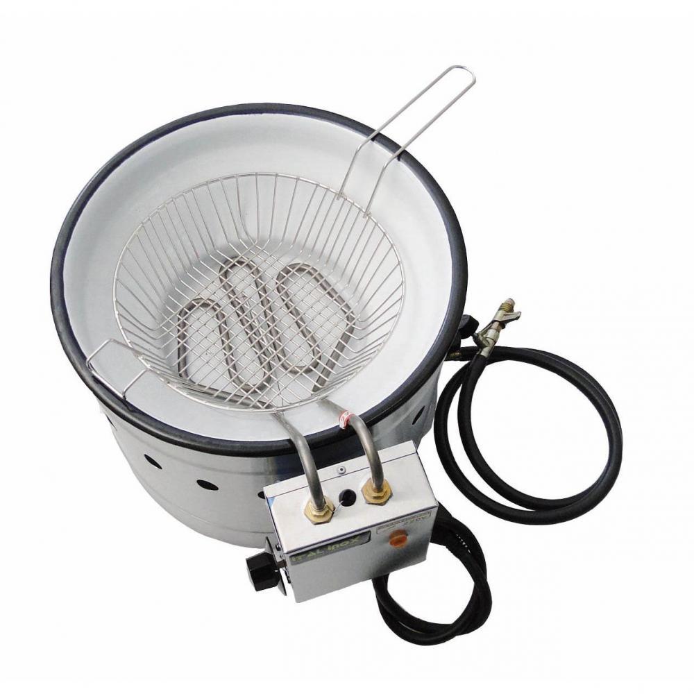 Tacho de fritura elétrico esmaltado - 7 litros -  Ital Inox