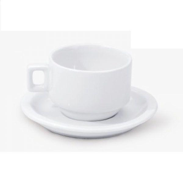 Xícara de Café com Pires 100ml 6 Unidades - Alfa